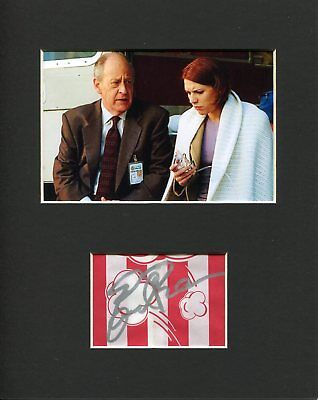 Earl Boen Terminator Dr Silberman Signed Autograph Photo Display W/ Claire Danes