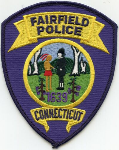 FAIRFIELD CONNECTICUT CT colorful POLICE PATCH
