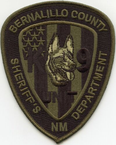 BERNALILLO COUNTY NEW MEXICO NM subdued K-9 SHERIFF POLICE PATCH