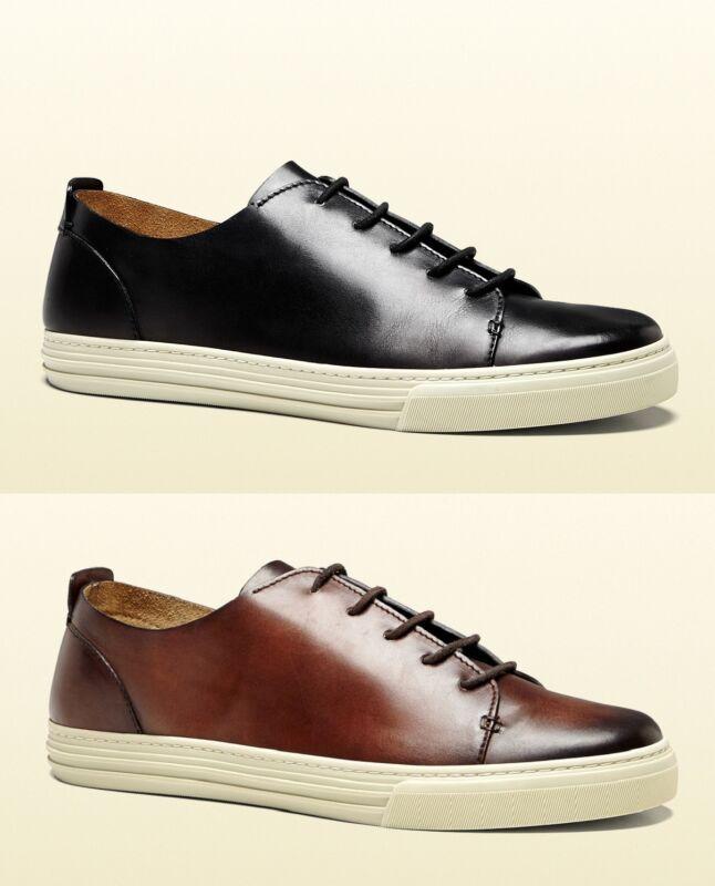 2f559e1cb New Authentic Gucci Men Leather Lace-up Sneaker w/Hysteria Crest, 342037