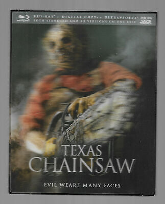 Texas Chainsaw Massacre Tobe Hooper 3D Blu Ray Brand New SEALED Hard to Find
