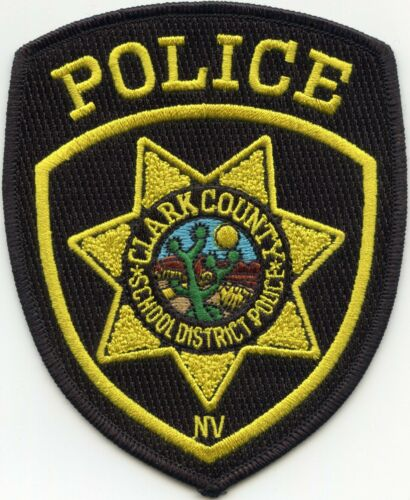 old style CLARK COUNTY NEVADA NV SCHOOL DISTRICT POLICE PATCH