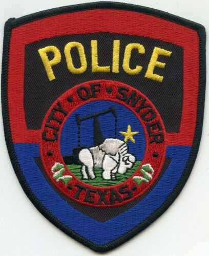 SNYDER TEXAS TX POLICE PATCH