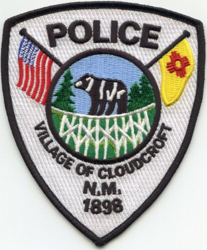 CLOUDCROFT NEW MEXICO NM State Flag Bear POLICE PATCH