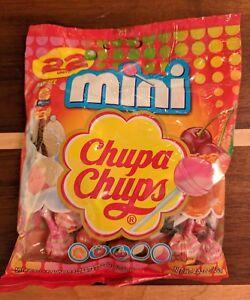 22 Mini Chupa Chups Cremosa Lollipops Orange Strawberry Vanilla Chocolate Cherry