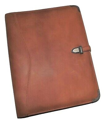 New Scully Nubuck Leather Old West Letter Writing Pad With Pen Brown