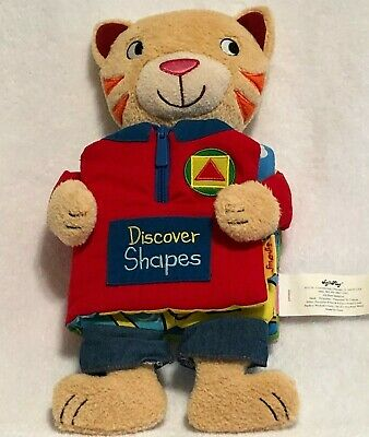 "Softplay Discover Shapes Fabric Book 14"" Plush Soft Toy Stuffed Animal Bear"