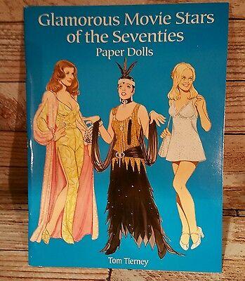 Paper Dolls Glamorous MOVIE STARS of 70's Tom Tierney unused paper dolls UNCUT