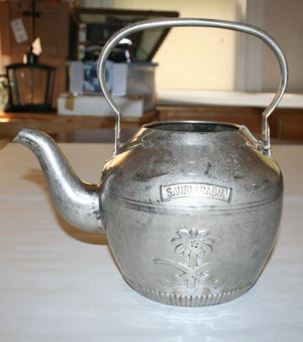 Saudi Arabia Tea Pot Stamped Silver Tone 18-8 Stainless Steel Made In Korea