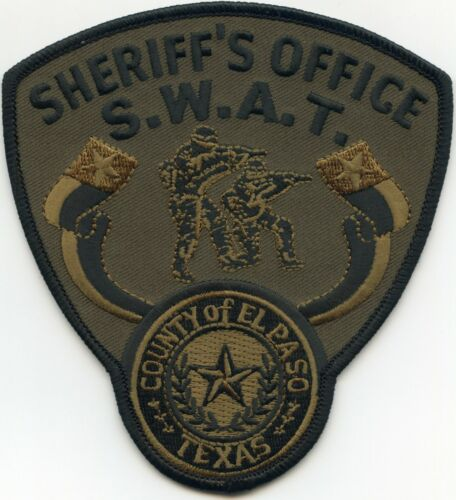 EL PASO COUNTY TEXAS TX subdued green SWAT SHERIFF POLICE PATCH
