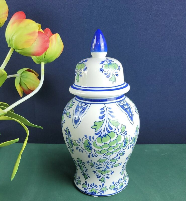 Blue and Green Ginger Jar