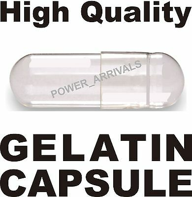 - EMPTY GELATIN CAPSULES, (Kosher) bulk GEL CAPS PILL COLOR - CLEAR 2000 SIZE 00