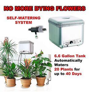 self watering drip system automatic garden flowers plants irrigation kit indoor ebay. Black Bedroom Furniture Sets. Home Design Ideas