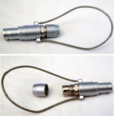 Lemo Fng.1b Circular Connector Plug Male Pins Solder Cup With Backshell Lanyard