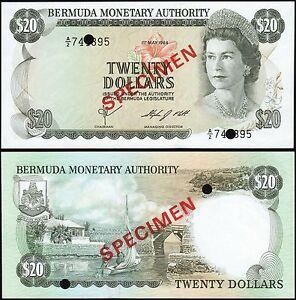 Bermuda-20-1984-p31s-CHOICE-UNCIRCULATED-RARE-SPECIMEN