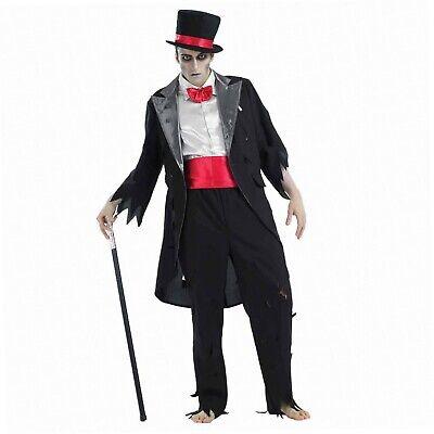 Fancy Me Herren Leiche Tot Zombie-bräutigam Vampir Halloween Kostüm Kleid...