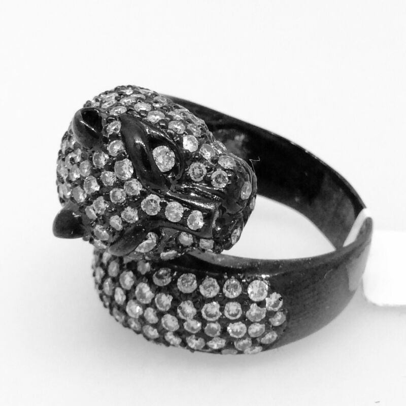 Black Panther Diamond Pave Wrap Ring In 18k Gold - Hm1675