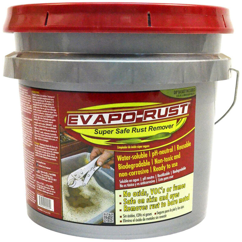 Evapo-Rust Super Safe Non Toxic Water Based Heavy Rust Remover Cleaner, 3.5 Gal