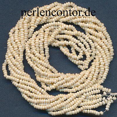 n 12 g  elfenbein  2,0 mm  facettiert, Preciosa (AZ1195) (Elfenbein Perlen)