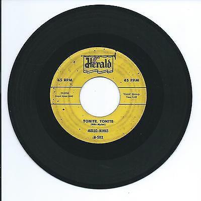 """1957 RARE MELLO-KINGS """"TONITE, TONITE"""" 45rpm 7"""""""