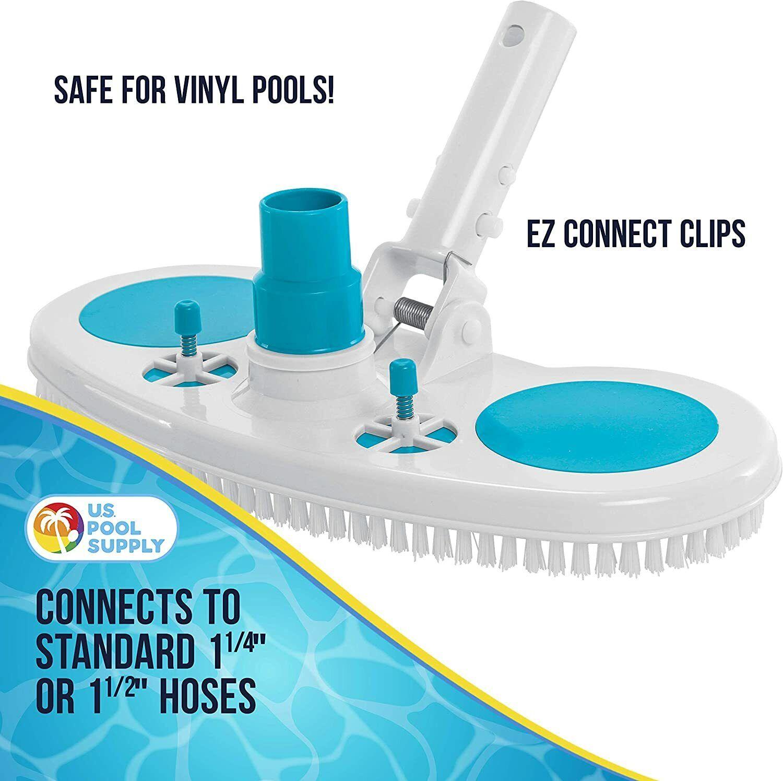 Salt Water Pool Vacuum Head For Above Ground Pool & In Groun