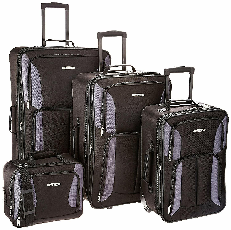 Rockland Luggage Expandable Wheeled 4 Piece Set, Travel Bags