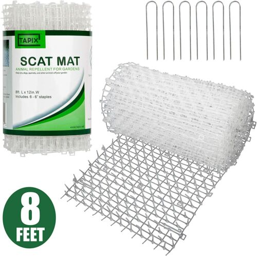 Tapix Cat Scat Mat Clear Anti-cat Network with Spikes Digging Stopper Mat
