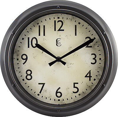 4388G Geneva Clock Company 12 Plastic Analog Wall Clock - Metallic Finish