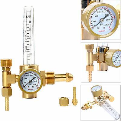Argon Co2 Mig Tig Flow Meterlpmwelding Weld Regulator Gauge Gas Welder Cga-580