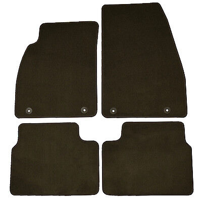 Set Of 4 Factory OEM Cocoa Brown Floor Mats Carpeted Front Rear For Buick Regal (Carpets Chocolate)