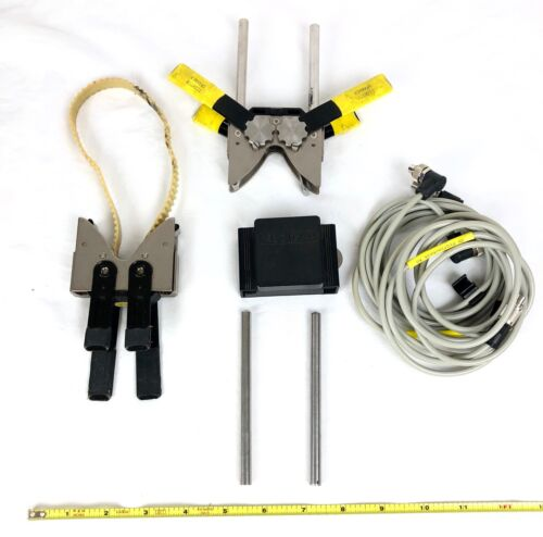 DB Pruftechnik Bracket Ali 2.202 Kit with mirror, clamps, guide pins and cables.