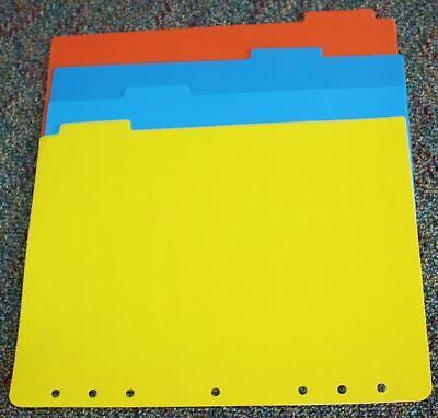 7-hole Monarch Folio Planner Accessory 4 Plastic Dividers Inserts Set Franklin