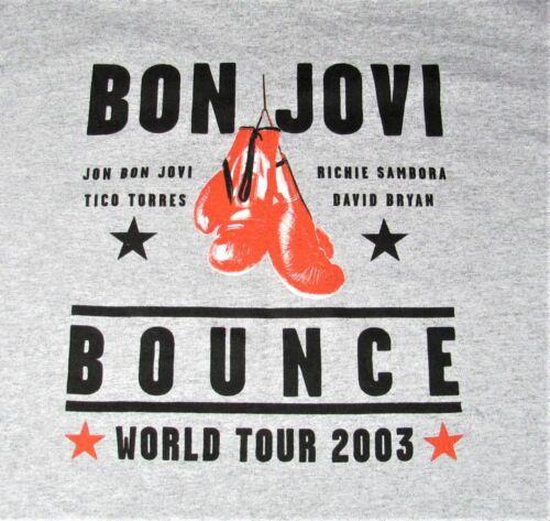 Vintage 2003 Bon Jovi The Bounce tour shirt grey size L GREAT CONDITION!