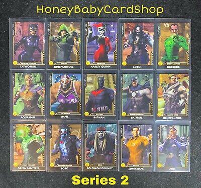 Injustice Arcade GEM MINT Series 2 Gold Intermediate Set 15 Cards