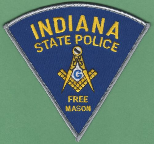 INDIANA STATE POLICE MASONIC LODGE SHOULDER PATCH