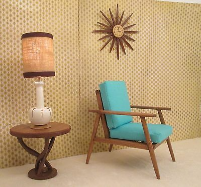 Danish mid century modern wood Chair furniture for Vintage Barbie doll