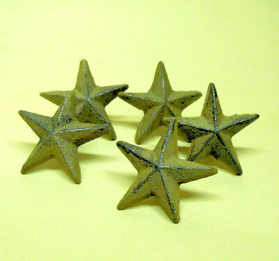"40pc 2"" Cast Iron Stars w/ Nail Mini decoration wooden surfaces Lot Wholesale"