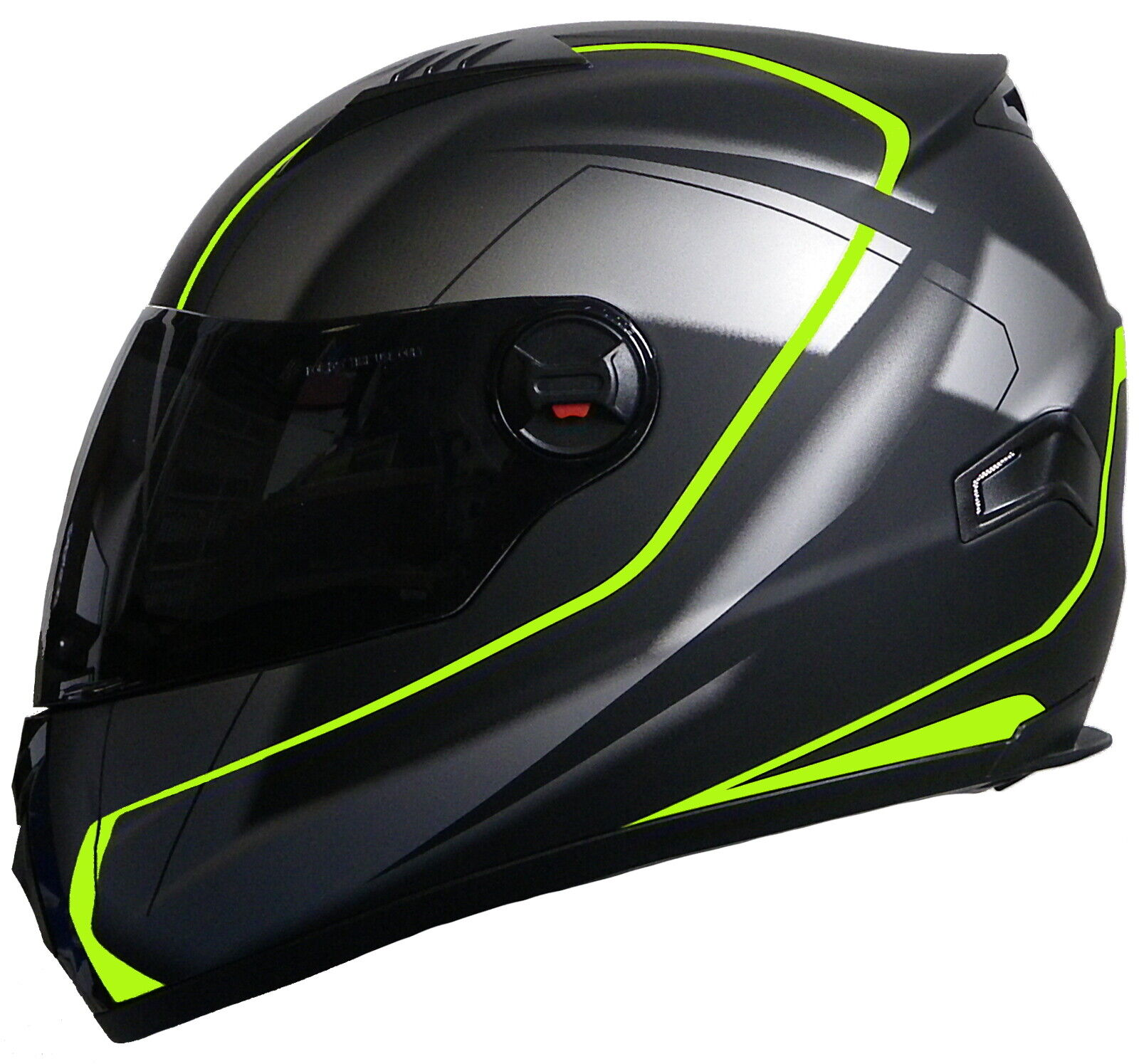 Motorradhelm Integralhelm 708 Helm Rollerhelm Sturzhelm neon grün matt S M L XL