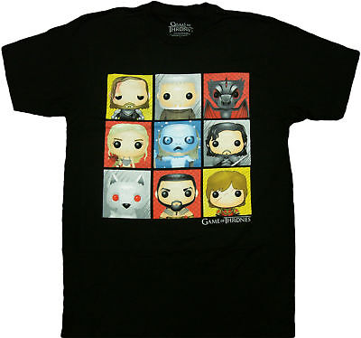 HBO'S Game of Thrones - Funko Character Boxes Adult T-Shirt - Officially Licens](Hbo Adult)