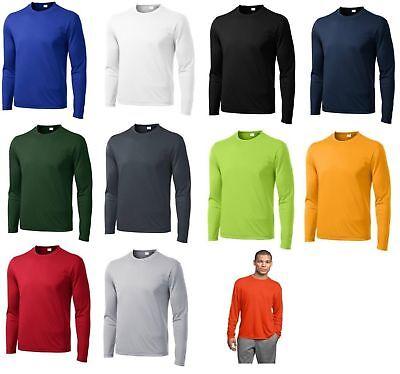 Dri Fit Shirt - Moisture Wicking Competitor Tee T Shirt Sport Tek St350LS Long Sleeve, Dri-fit