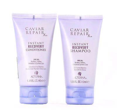2 ALTERNA Caviar Repair RX Instant Recovery Travel Shampoo Conditioner 1.35 oz