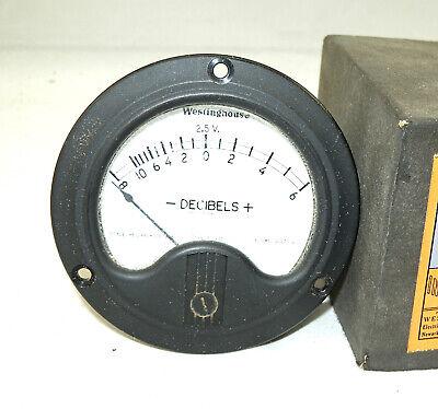 Nos Westinghouse Nc-35 Panel Meter Db Decibel 3 12 Diameter Vintage Gauge