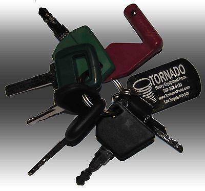 Volvo Heavy Equipment Construction Ignition Key Set 7 Keys With Laser Key