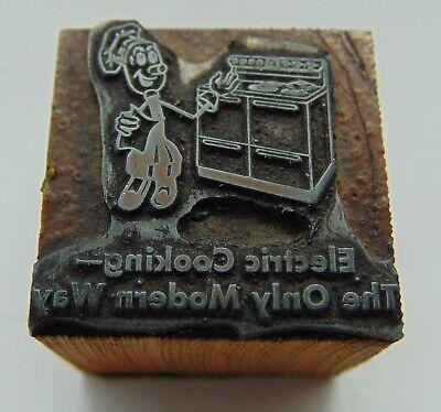 Printing Letterpress Printers Block Willie Wiredhand Electric Cooking