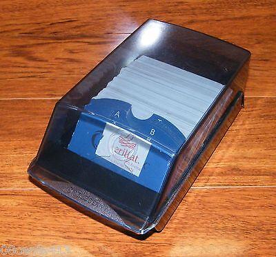 Rubbermaid Rolodex Desktop Business Card Address Book Contact File Organizer