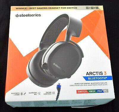 OEM SteelSeries Arctis 3 Bluetooth Stereo Gaming Headset 61509 Black FREE SHIP