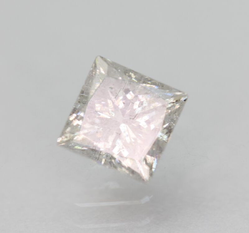 Certified 0.79 Carat F SI2 Princess Enhanced Natural Loose Diamond 4.9x4.83m 2VG