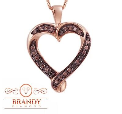 Brandy Diamond® Chocolate Brown 18K Rose Gold Silver I'M Yours Heart -