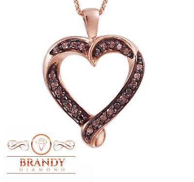 Brandy Diamond® Chocolate Brown 18K Rose Gold Silver I'M Yo