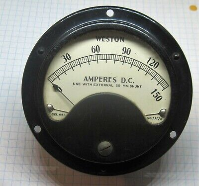 Weston Panel Meter Model 643 0-150a D.c. Tested